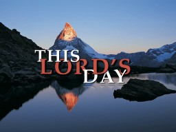 This Lord's Day