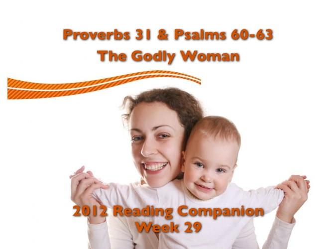 Week 29 Companion 2012