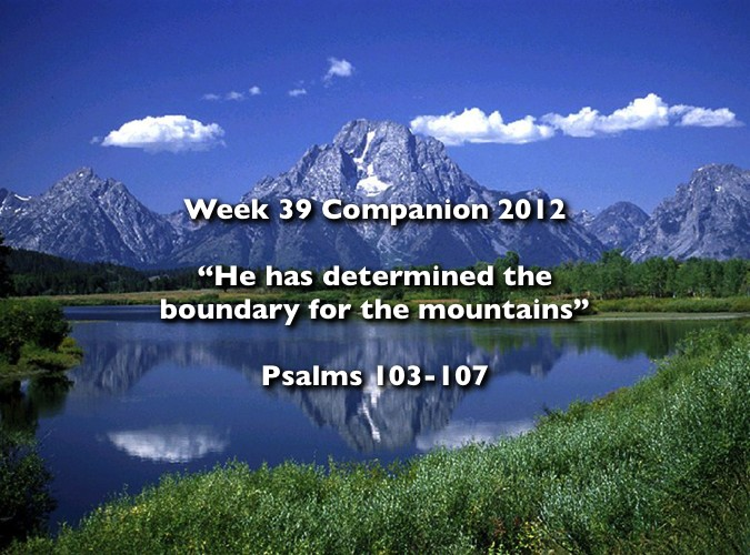 Week 39 Companion 2012