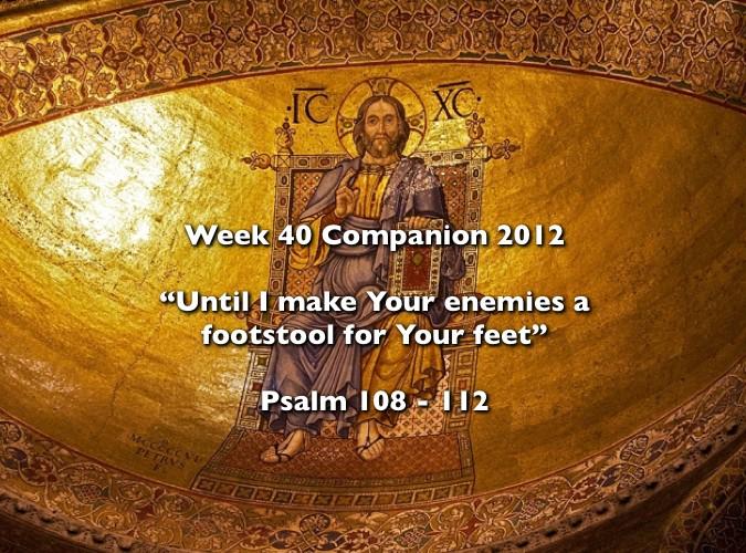 Week 40 Companion 2012