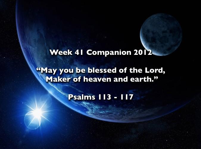 Week 41 Companion 2012