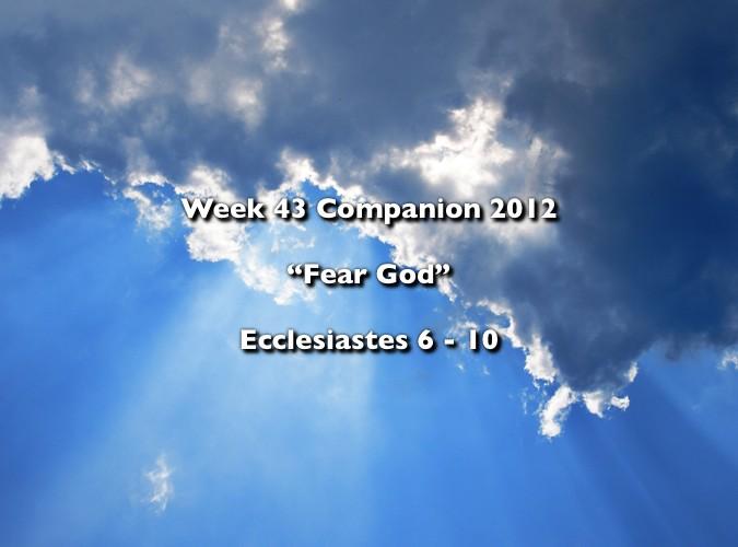 Week 43 Companion 2012