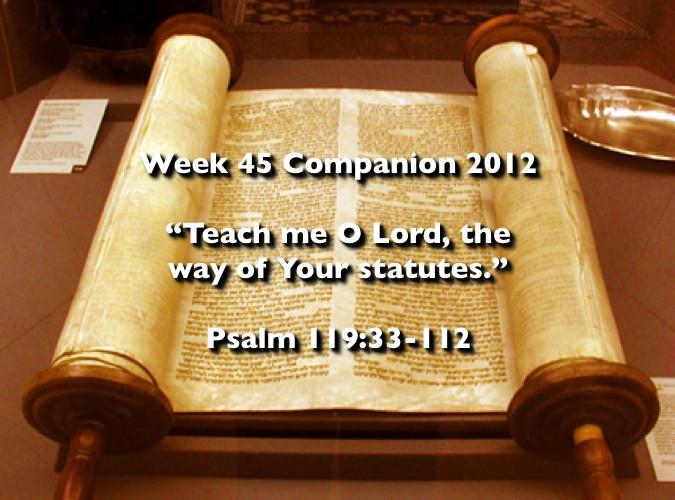 Week 45 Companion 2012