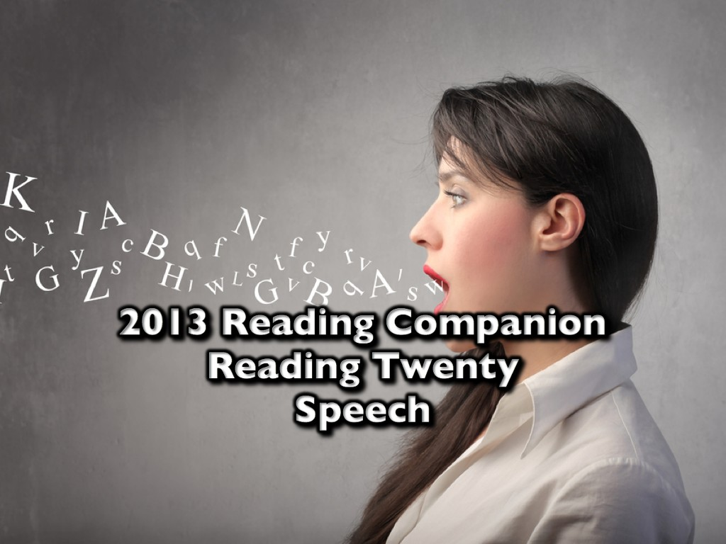 2013 Reading Companion – Reading Twenty – Speech
