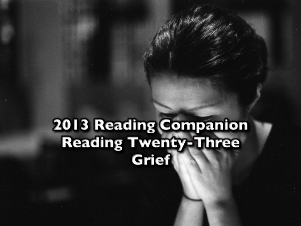 2013 Reading Companion – Reading Twenty-Three – Grief