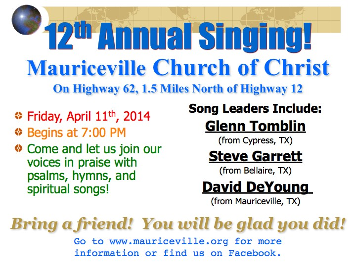 12th Annual Mauriceville Singing