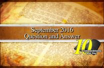 September 2016 10 Commandments Question and Answer