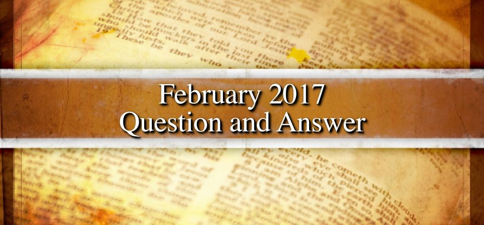 February 2017 Question and Answer