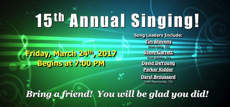 15th Annual Singing!