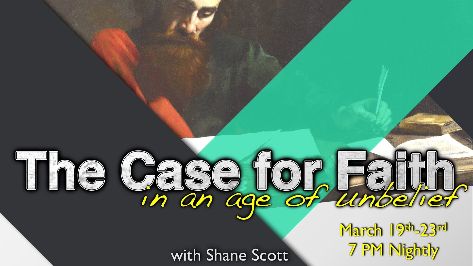 A Case For Faith Lecture Series with Shane Scott