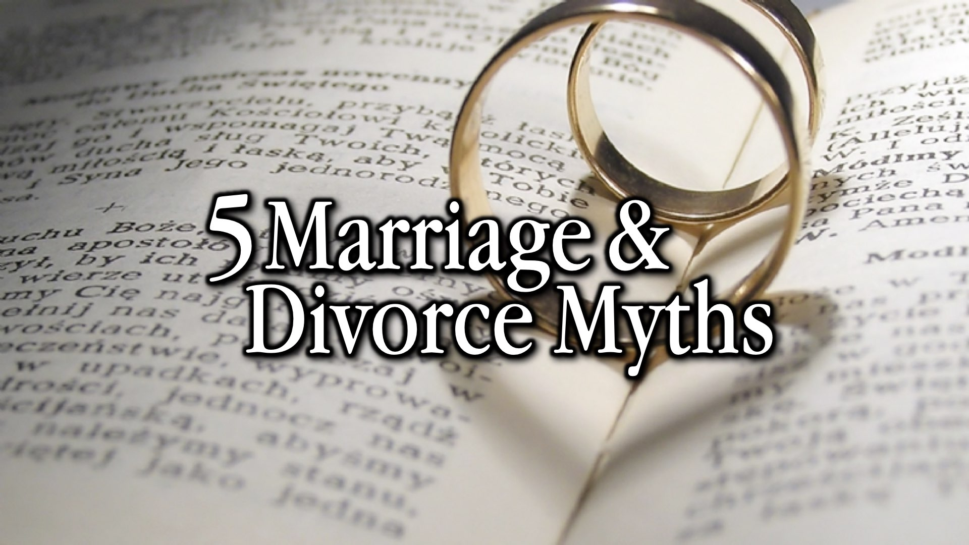 5 Common Marriage Myths
