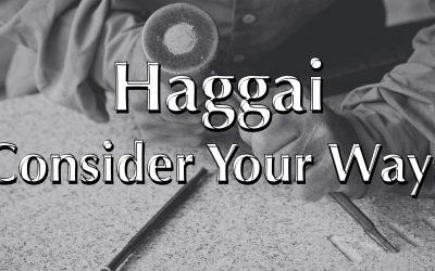 Haggai Consider Your Ways