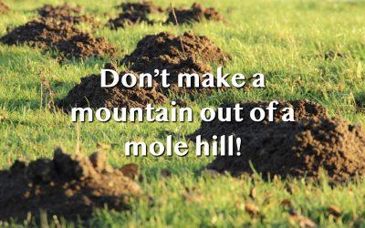 Do Not Make a Mountain Out of a Molehill